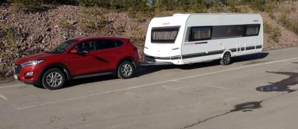 Koeajo Hyundai Tucson & Dethleffs Scandinavia 595RK