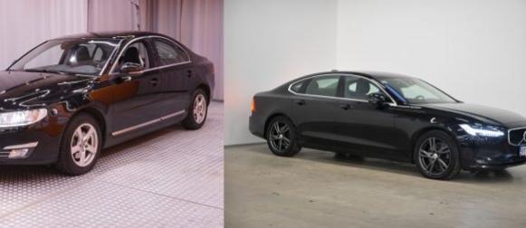 Sama vuosimalli & eri korimalli  Volvo S80 ja S90