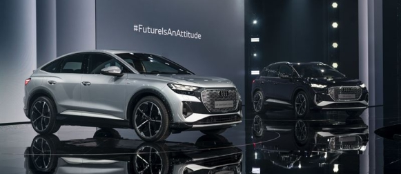 Audi Q4 e-tron alle 49000 eurolla